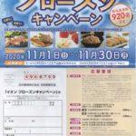 イオン×冷凍食品メーカー・アイスメーカー「イオンフローズンキャンペーン」2020/11/30〆